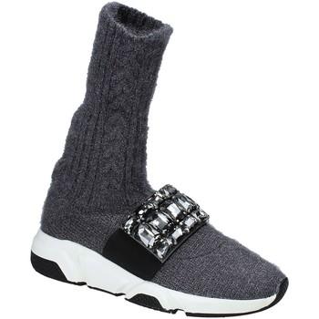 Chaussures Femme Baskets montantes Studio Italia BLANCHE 08 Gris