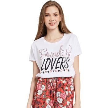 Vêtements Femme T-shirts manches courtes Gaudi 011BD64008 Blanc