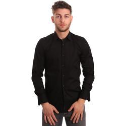 Vêtements Homme Chemises manches longues Antony Morato MMSL00375 FA450001 Noir