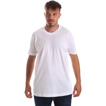 Vêtements Homme T-shirts manches courtes Key Up 2M915 0001 Blanc