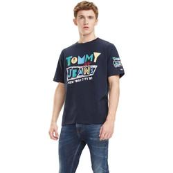 Vêtements Homme T-shirts manches courtes Tommy Hilfiger DM0DM06086 Bleu