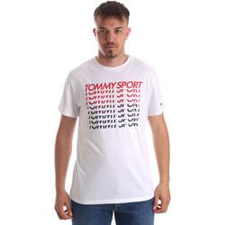 Vêtements Homme T-shirts manches courtes Tommy Hilfiger S20S200095 Blanc