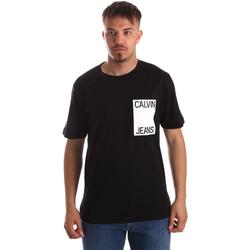 Vêtements Homme T-shirts manches courtes Calvin Klein Jeans J30J311326 Noir