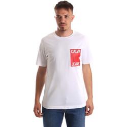 Vêtements Homme T-shirts manches courtes Calvin Klein Jeans J30J311326 Blanc