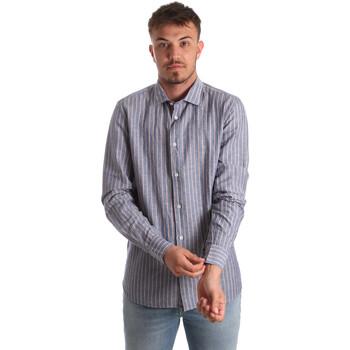 Vêtements Homme Chemises manches longues Antony Morato MMSL00520 FA420069 Bleu