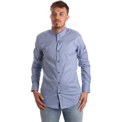 Vêtements Homme Chemises manches longues Antony Morato MMSL00526 FA430086 Bleu