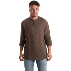 Vêtements Homme Chemises manches longues Antony Morato MMSL00531 FA400051 Marron