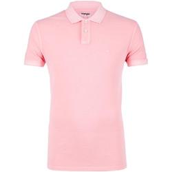 Vêtements Homme Polos manches courtes Wrangler W7C15K Rose