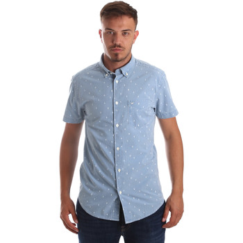 Vêtements Homme Chemises manches courtes Wrangler W59446 Bleu