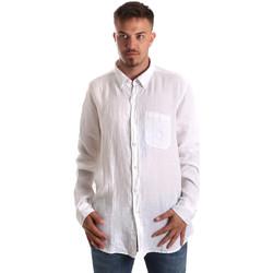 Vêtements Homme Chemises manches longues Navigare NV92067 BD Blanc
