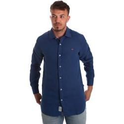Vêtements Homme Chemises manches longues Napapijri N0YIL7 Bleu