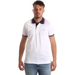 Vêtements Homme Polos manches courtes Key Up 2Q62G 0001 Blanc