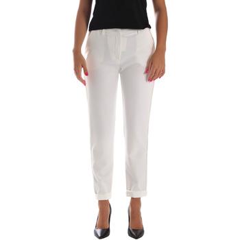 Vêtements Femme Chinos / Carrots Fracomina FR19SP684 Blanc