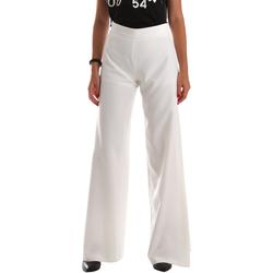 Vêtements Femme Pantalons fluides / Sarouels Fracomina FR19SP637 Blanc