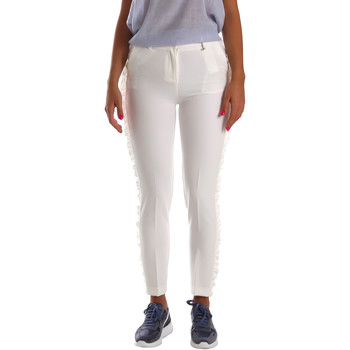 Vêtements Femme Chinos / Carrots Fracomina FR19SP666 Blanc
