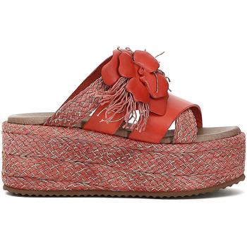 Chaussures Femme Mules Café Noir HG133 Rouge