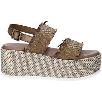 Chaussures Femme Espadrilles Pregunta IBH6649 Marron