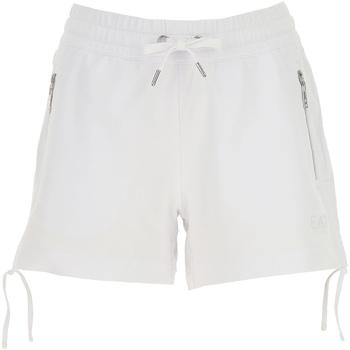 Vêtements Femme Shorts / Bermudas Ea7 Emporio Armani 3GTS52 TJ31Z Blanc
