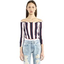 Vêtements Femme T-shirts manches longues Denny Rose 911DD60016 Bleu