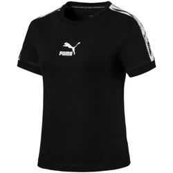Vêtements Femme T-shirts manches courtes Puma 579512 Noir
