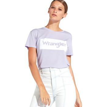 Vêtements Femme T-shirts manches courtes Wrangler W7016D Violet