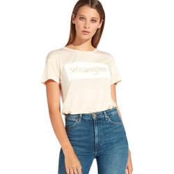 Vêtements Femme T-shirts manches courtes Wrangler W7016D Orange