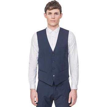 Vêtements Homme Gilets / Cardigans Antony Morato MMVE00087 FA650176 Bleu