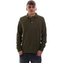 Vêtements Homme Polos manches longues U.S Polo Assn. 52415 47773 Vert