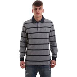 Vêtements Homme Polos manches longues Navigare NV30027 Gris