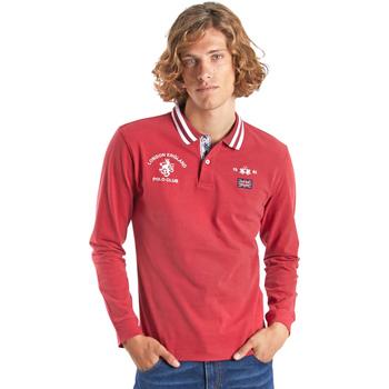 Vêtements Homme Polos manches longues La Martina OMP325 JS005 Rouge
