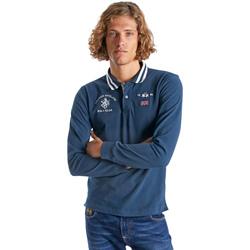 Vêtements Homme Polos manches longues La Martina OMP325 JS005 Bleu