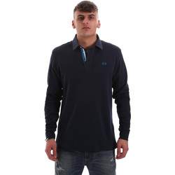 Vêtements Homme Polos manches longues La Martina OMP007 JS169 Bleu