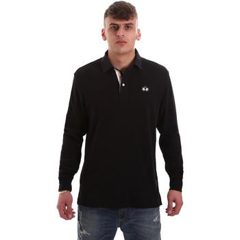 Vêtements Homme Polos manches longues La Martina OMP007 JS169 Noir