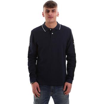 Vêtements Homme Polos manches longues La Martina OMPM36 JS169 Bleu