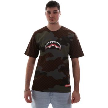 Vêtements Homme T-shirts manches courtes Sprayground SP018SBRO Marron
