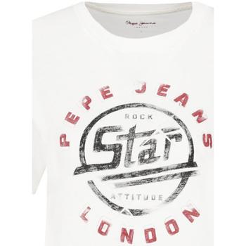 Vêtements Femme T-shirts manches courtes Pepe jeans PL504273 Blanc