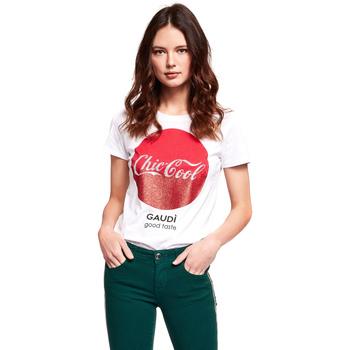 Vêtements Femme T-shirts manches courtes Gaudi 921BD64047 Blanc