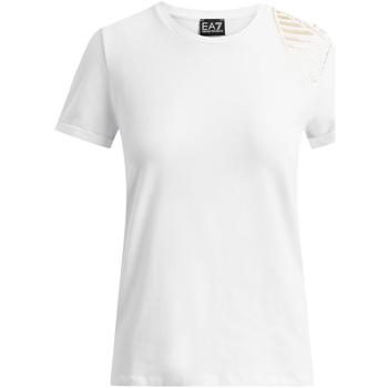 Vêtements Femme T-shirts manches courtes Ea7 Emporio Armani 6GTT07 TJ12Z Blanc