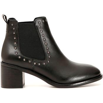 Chaussures Femme Bottines Café Noir GE144 Noir