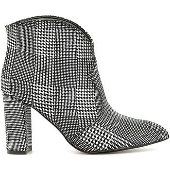 Chaussures Femme Bottines Café Noir LF833 Blanc