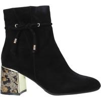 Chaussures Femme Bottines Café Noir LA542 Noir