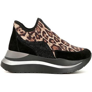 Chaussures Femme Slip ons Café Noir DC975 Noir
