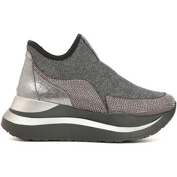 Chaussures Femme Slip ons Café Noir DC985 Gris