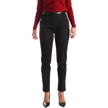 Vêtements Femme Chinos / Carrots Fracomina FR19FP619 Noir