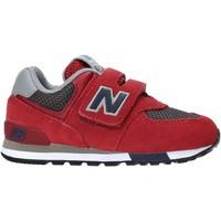 Chaussures Enfant Baskets basses New Balance NBIV574FNB Rouge