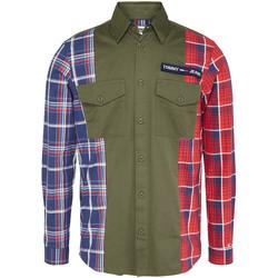 Vêtements Homme Chemises manches longues Tommy Jeans DM0DM07513 Vert