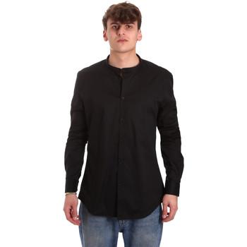 Vêtements Homme Chemises manches longues Gaudi 011BU45013 Noir