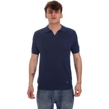 Vêtements Homme Polos manches longues Gaudi 011BU53010 Bleu