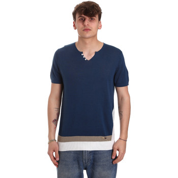 Vêtements Homme T-shirts manches courtes Gaudi 011BU53021 Bleu