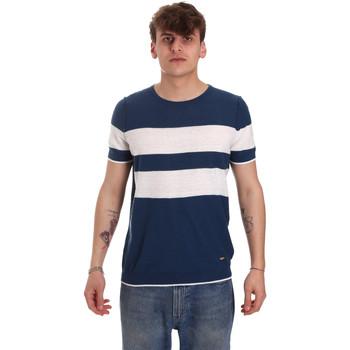 Vêtements Homme T-shirts manches courtes Gaudi 011BU53023 Bleu